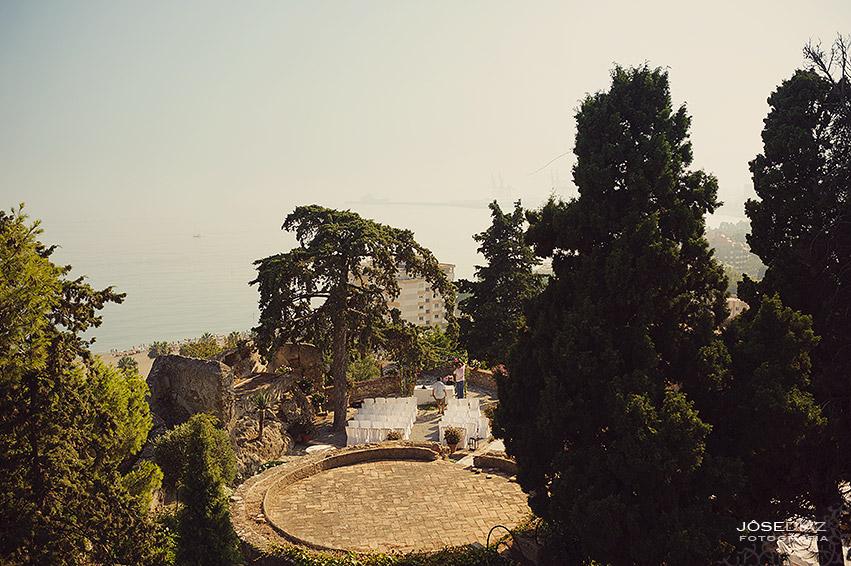 Ceremonia boda jardines, Hotel Castillo Santa Catalina, fotógrafo boda, reportaje documental boda, fotografía de boda, fotógrafos