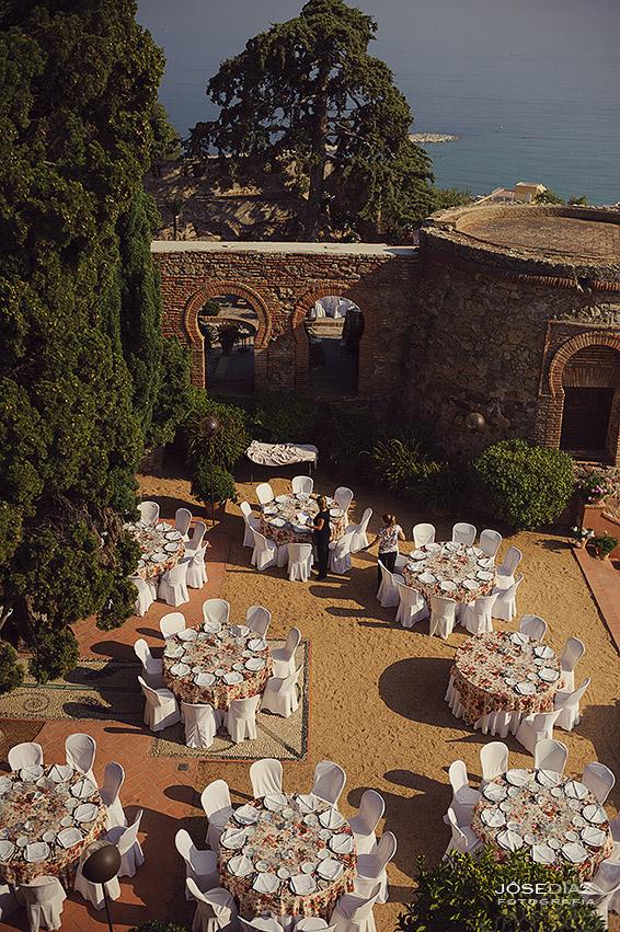 banquete al aire libre, Hotel Castillo Santa Catalina, fotógrafo boda, reportaje documental boda, fotografía de boda, fotógrafos