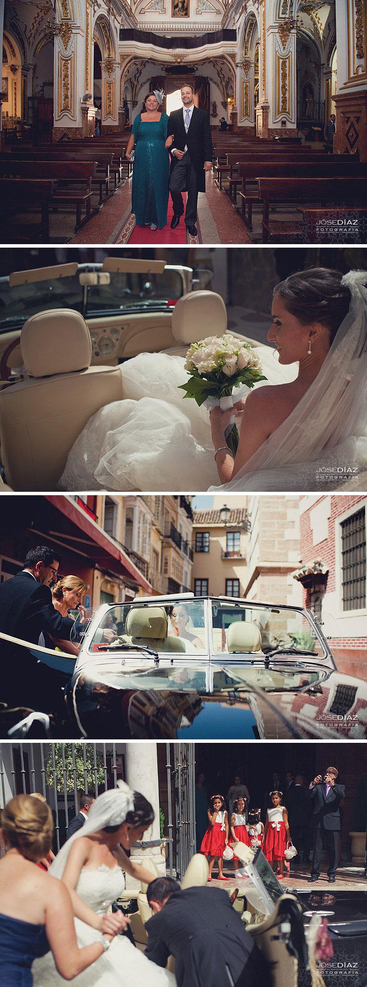 fotografías de boda en la Iglesia de los Mártires, Málaga, fotografía de boda por Jose Díaz