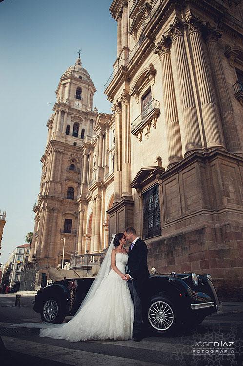 fotografías boda centro de Málaga, reportaje de boda artístico, Jose Díaz