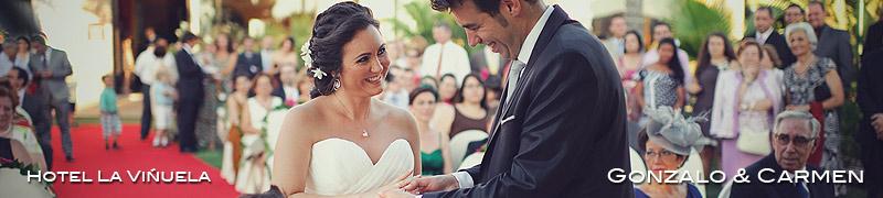 reportajes de boda en hotel La Viñuela, Málaga