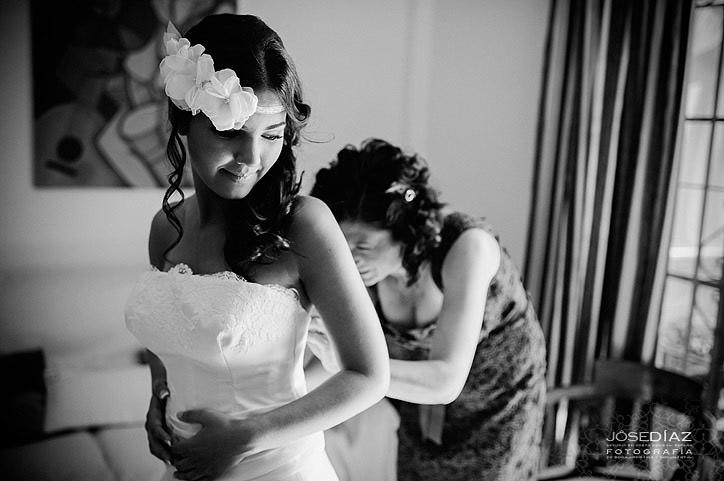 preparativos de una novia, vestido de novia
