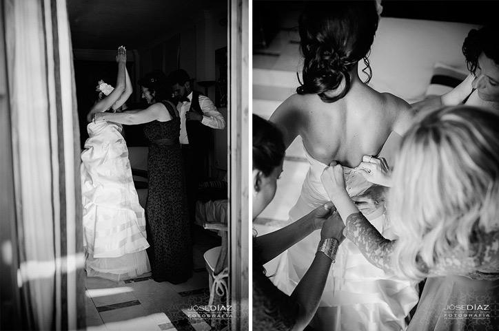 reportaje de boda, fotos de unos preparativos de la novia, Jose Díaz fotógrafo