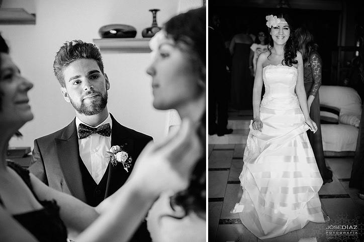 preparativos de la novia, reportaje documental de boda, Jose Díaz fotógrafo Málaga