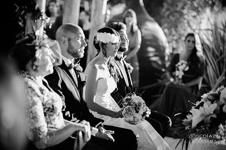 reportaje de boda al aire libre, boda an exterior, ceremonia de boda civil, fotógrafo Jose Díaz Málaga
