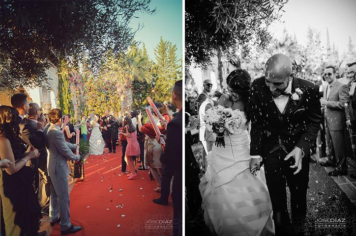 fotos ceremonia de boda al aire libre, boda civil, Málaga