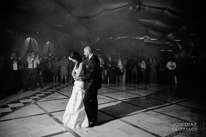 Baile nupcial en una boda, fotógrafo Jose Díaz, fotógrafos boda Málaga, fotografía profesional en Málaga