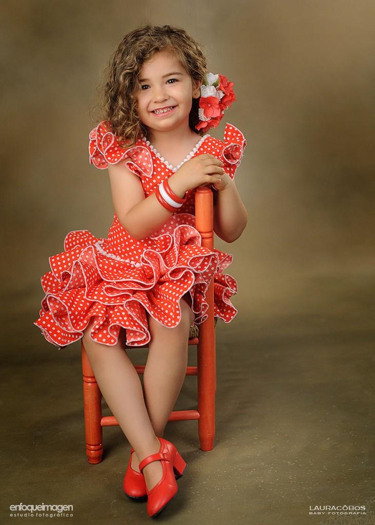 reportaje infantil, fotos de flamenca