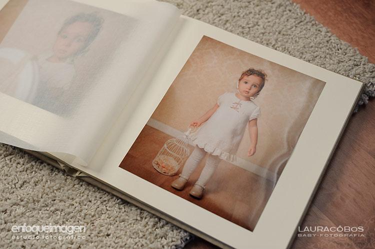álbum de fotos profesional, reportajes de bebés, álbumes de bebés, álbum infantil profesional, reportaje artístico
