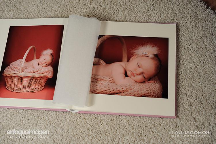 fotografías en álbum, álbum profesional estudio