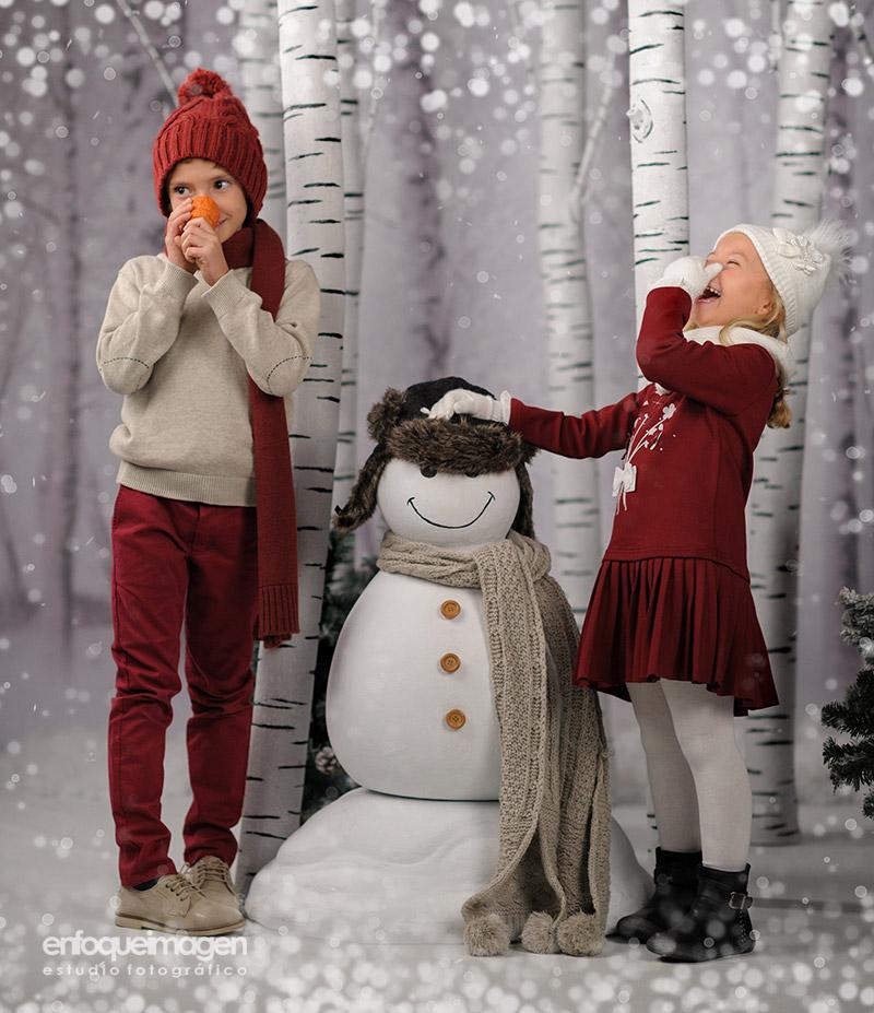 fotografía infantil, reportajes en navidad, decoración navideña, estudio fotográfico